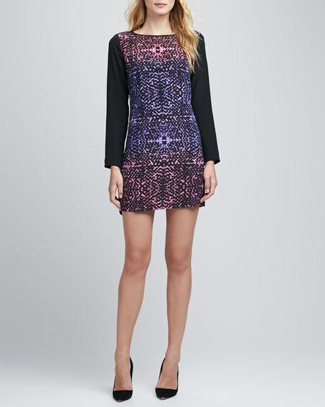 Printed Long-Sleeve Tunic Dress