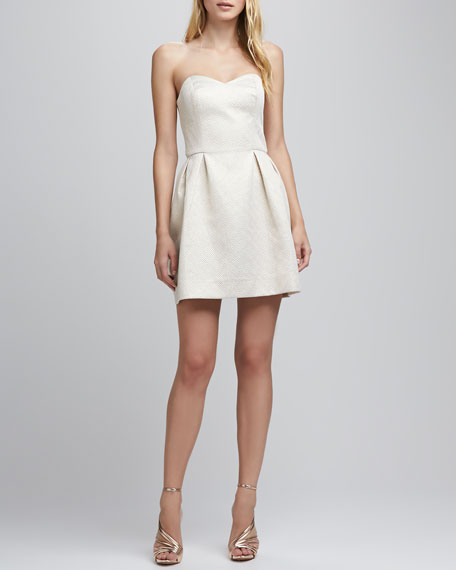Geneva Strapless Brocade Dress