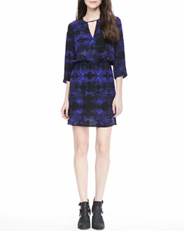 Parker Pennie Printed Keyhole Dress