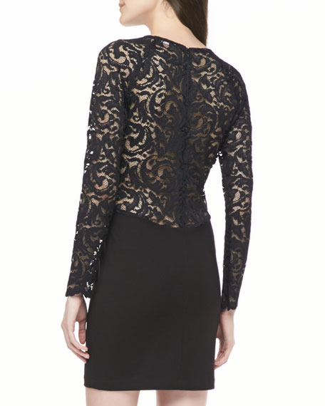 Vita Lace-Sleeve Dress