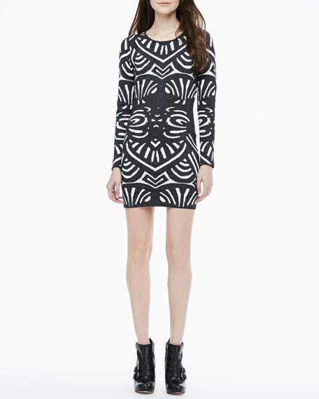 Chamberlain Fitted Printed Dress
