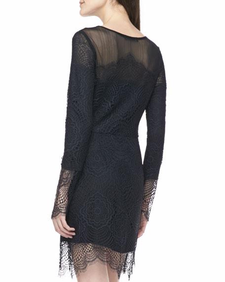 Grace Lace-Overlay Mini Dress