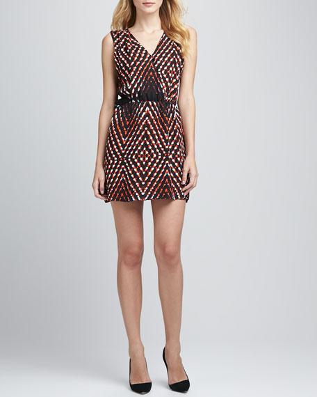 Karen Printed Open-Back Dress
