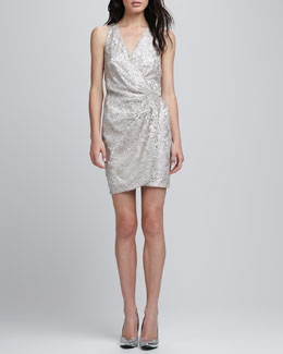 Parker Reina Metallic Lace Racerback Dress