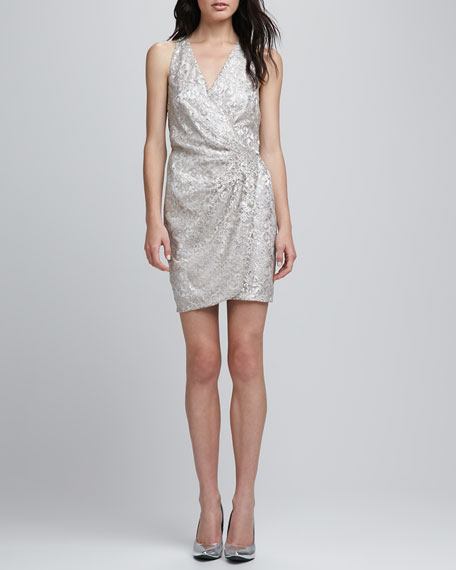 Reina Metallic Lace Racerback Dress