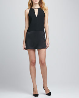 Parker Stacey Paneled Keyhole Dress