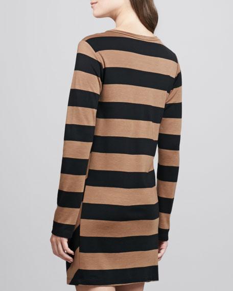 Wide-Stripe Jersey Dress