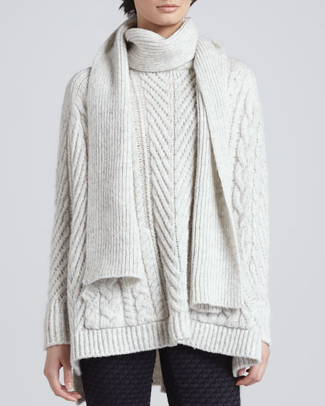 Connolly Chunky Knit Sweater with Scarf
