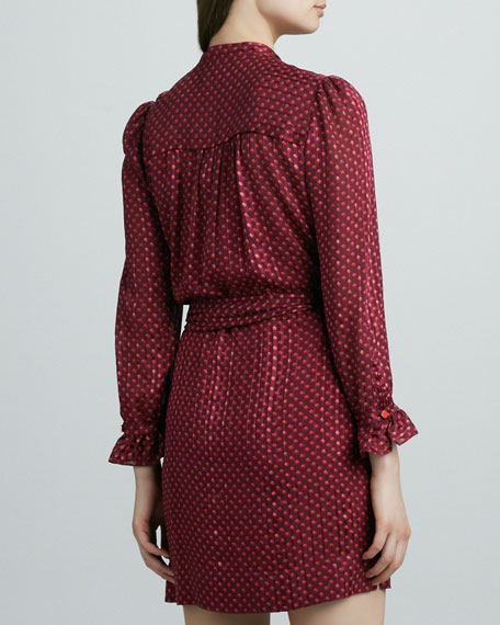 Minetta Printed Tie-Waist Dress