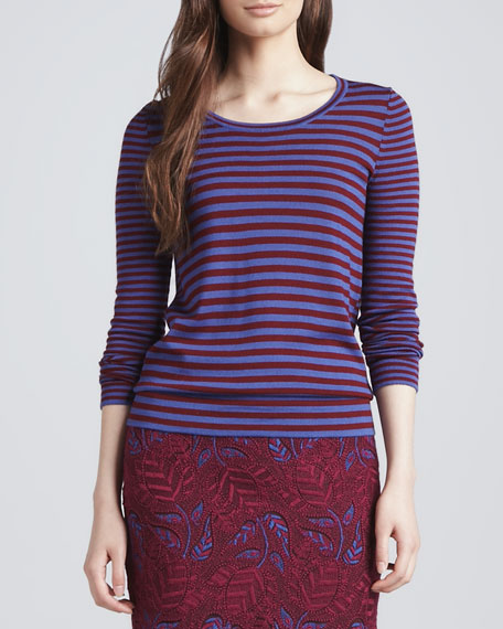 Fiona Striped Knit Sweater