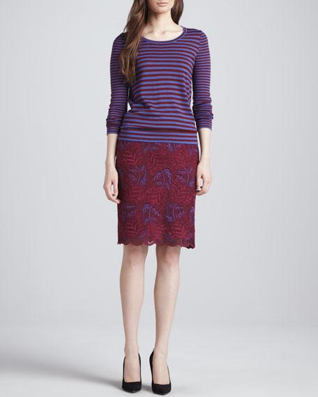 Lancaster A-line Lace Skirt