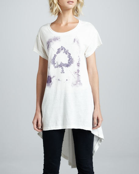 In My Dreams Printed High-Low Tunic Tee