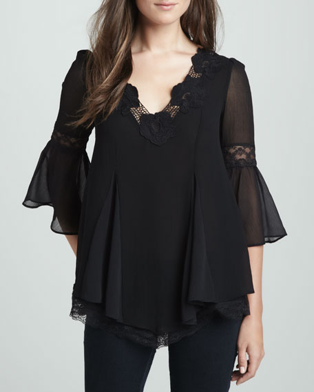 Always in Love Lace-Trim Top