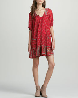 Free People Penny Lane Printed Swing Dress