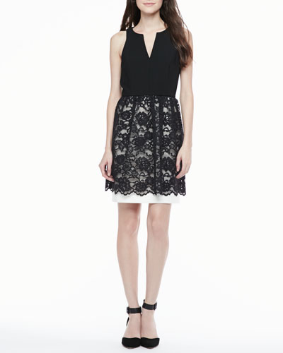 4.collective Sophie Lace-Skirt Dress