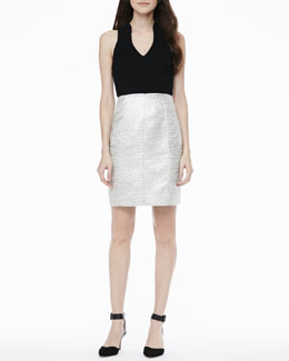 4.collective Metallic-Tweed-Skirt Dress