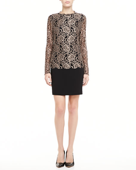 Elka Lace-Overlay Dress