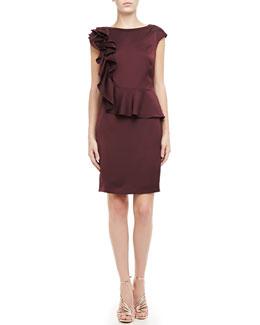 Ted Baker London Poielle Ruffle-Shoulder Dress