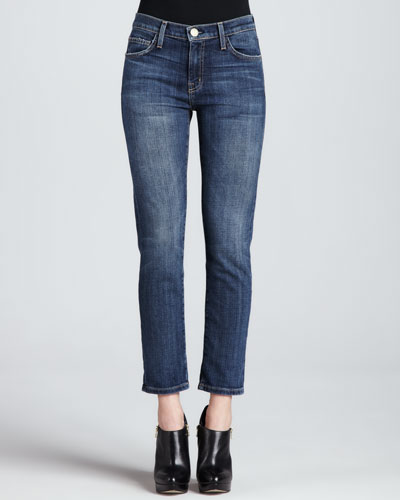 Current/Elliott The Fling Loved Faded Cropped Jeans