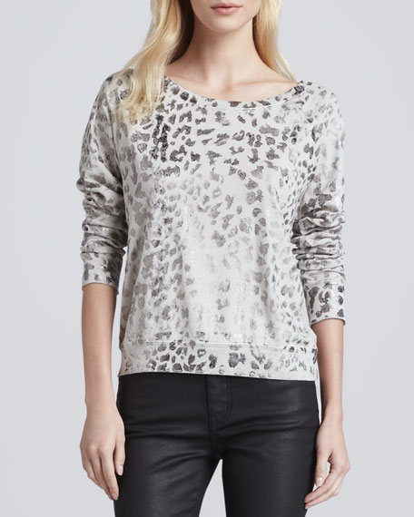 The Letterman Leopard-Print Sweatshirt