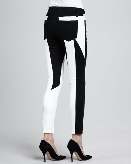 Tansy Seamstress Two-Tone Skinny Jeans