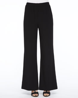 Caroline Rose Wide-Leg Jersey Pants, Women's