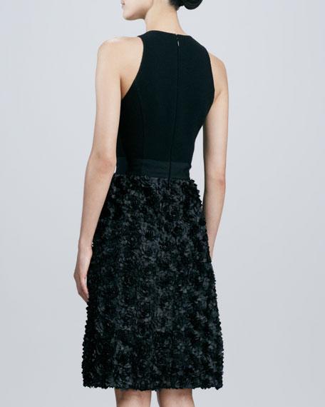 Halter Petal-Skirt Dress