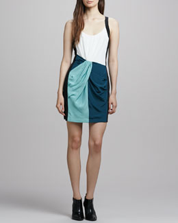 Rebecca Minkoff Joshua Draped Colorblock Dress