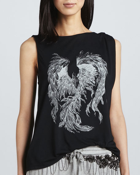 Phoenix Rising Asymmetric Graphic Tank