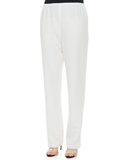 Caroline Rose Crepe Straight Leg Pants, Women's