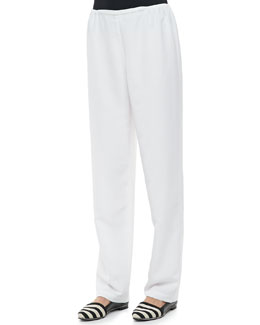 Caroline Rose Poly Shantung Pants, Women's