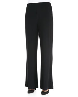 Caroline Rose Stretch Knit Wide Pants, Petite