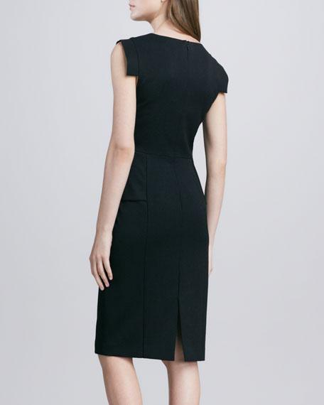Keyton Peplum Dress, Black