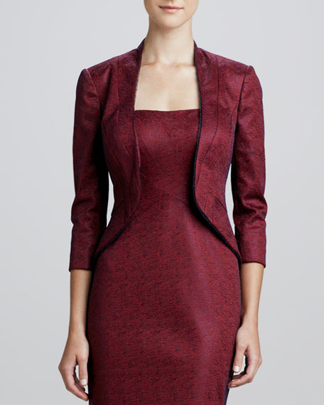 Jacquard Three-Quarter Sleeve Jacket