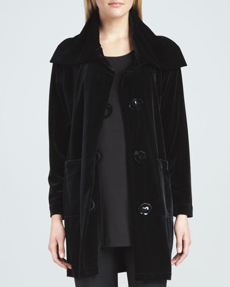 Velvet Long Sweater Coat