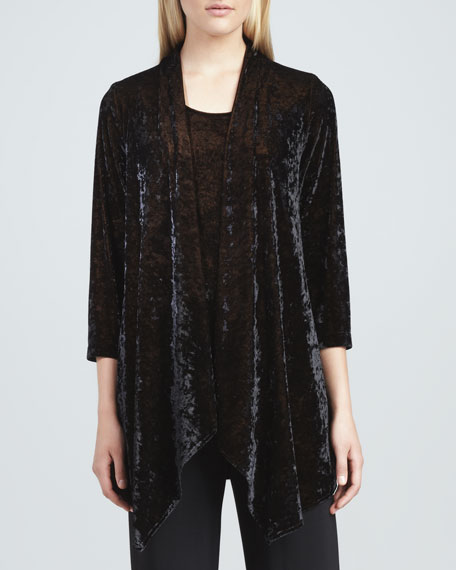Crushed Velvet Jacket, Onyx