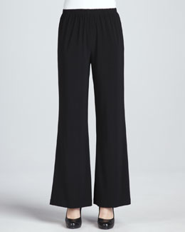 Caroline Rose Wide-Leg Stretch Pants, Petite