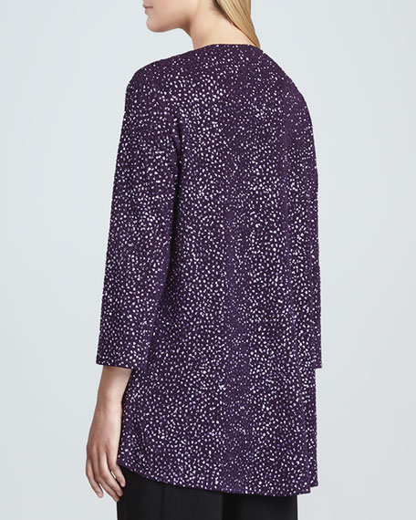 Glitter High-Low Tunic, Purple