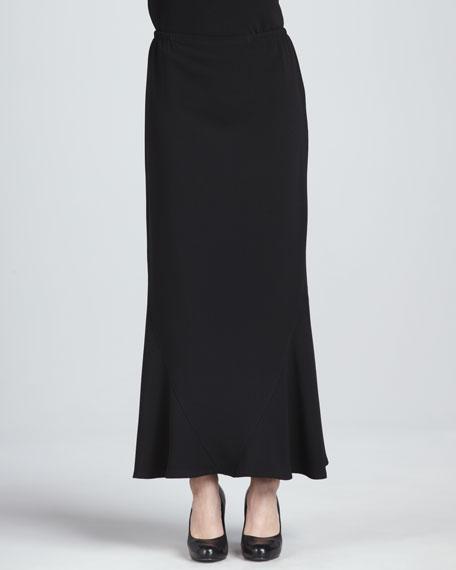 caroline crepe stretch tulip maxi skirt black