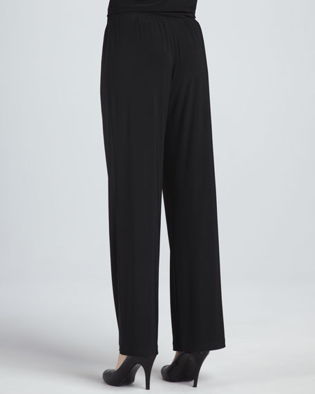 Stretch-Knit Slim Pants, Petite
