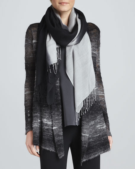 Ombre Silk-Blend Scarf