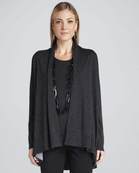 Merino Wool Cascading Cardigan, Women's