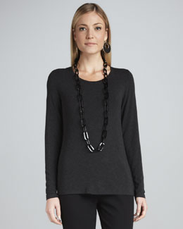 Eileen Fisher Cozy Long Lean Jersey Top, Women's
