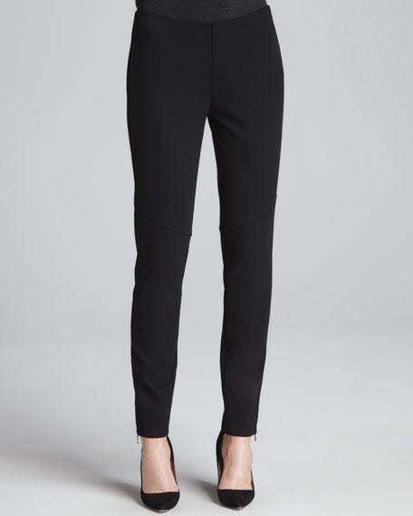 Ponte Skinny Ankle Pants, Petite