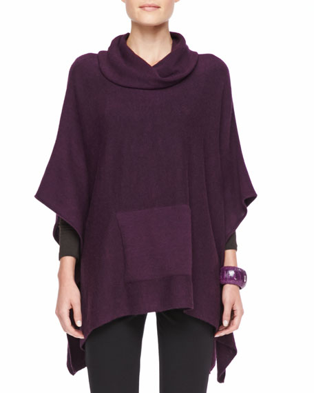 Funnel-Neck Poncho Top