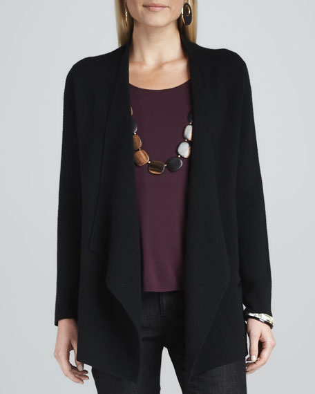 Angled Open-Front Jacket, Petite