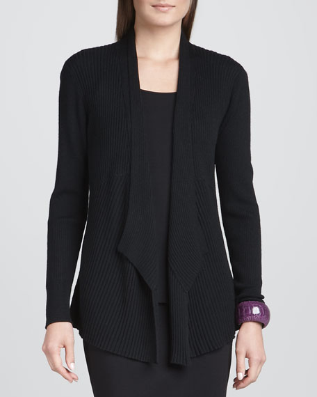 Merino Mixed-Texture Cardigan, Women's