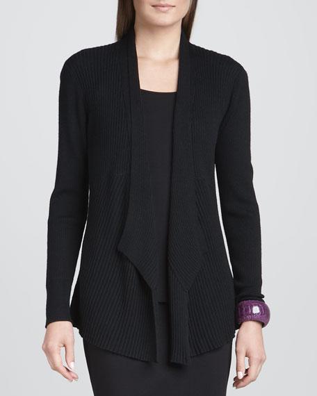 Merino Mixed-Texture Cardigan, Women's