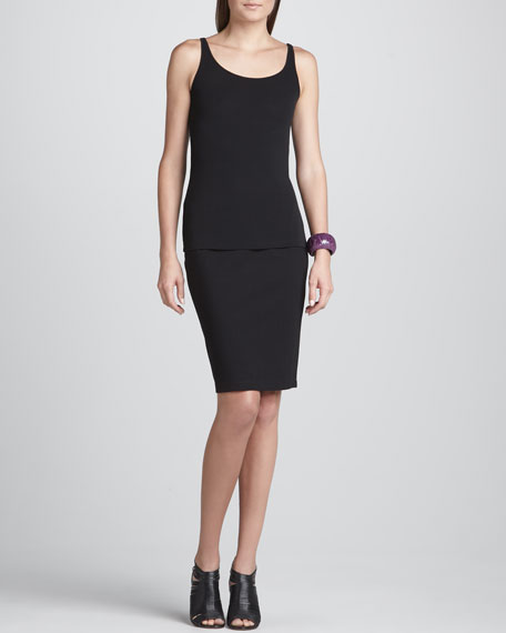 Ponte Knee-Length Pencil Skirt