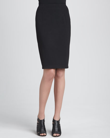 Ponte Knee-Length Pencil Skirt, Petite